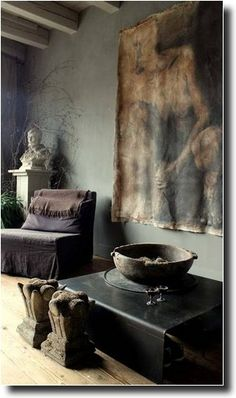 Incredible Tips: Natural Home Decor Paint Colors natural home decor living room coffee tables.All Natural Home Decor Living Rooms all natural home decor woods.Simple Natural Home Decor Beach Houses. Wabi Sabi, Grey Home Decor, Natural Home Decor, Natural Interior, Modern Interior, Nordic Interior, Modern Rustic Interiors, Dark Interiors, Beautiful Interiors