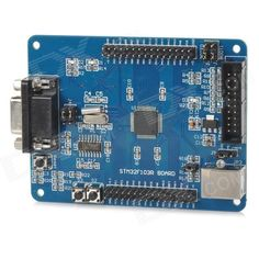 ARM Cortex-M3 STM32F103RBT6 STM32 Development Board - Deep Blue. On-board STM32F103RBT6 chip; With on-board JTAG interface and reset button; On-board 32.768KHZ and 8MHZ oscillator; With AMS1117-3.3 chip of 5V to 3.3V; With one set of RS232 serial ports, UART1 and UART2 can be set by jumper wire; All I/O are led and marked; Power supply: USB and JLink Power On. User Manual: m5.img.dxcdn.com/CDDriver/CD/sku.295921.zip. Tags: #Electrical #Tools #Arduino #SCM #Supplies #Boards #Shields