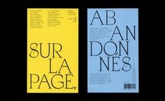 Sur la page abandonnés, Vol. 3 1 // Apoc, GT Super Text, Courier New Typography Layout, Typography Letters, Lettering, Letter Set, Graphic Design Studios, Fun At Work, Grafik Design, Essay Writing, Editorial Design
