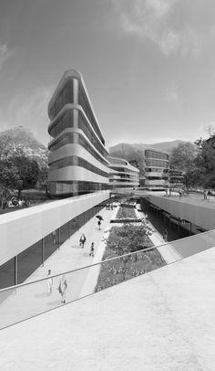 Primer Lugar Concurso Diseño y Construcción del Campus Universitario Supsi en Lugano