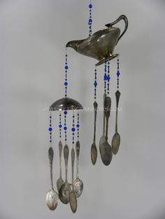 Wind chime with re purposed vintage silver by WhisperingMetalworks, $70.00