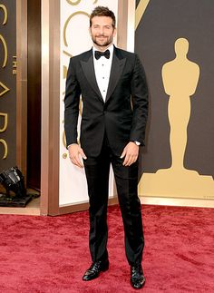 Bradley Cooper - The American Hustle hunk and Best Supporting Actor nominee looked sexy in a Tom Ford tuxedo and Chopard watch, slightly mussed hair, and a trimmed beard.