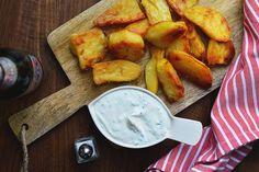 Csak egyszerűen: csodás sült krumpli kecskesajtos mártogatóssal - Dívány Turkish Recipes, Ethnic Recipes, Pretzel Bites, Potato Recipes, Soul Food, Potatoes, Gluten Free, Bread, Vegetables