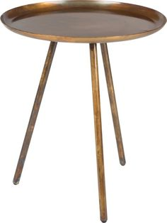 Felis Lifestyle Side Table, One Size Petites Tables, Round Side Table, Side Tables, Or Antique, Frost, My House, Copper, Living Room, Metal