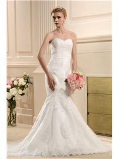 Fabulous Floor Length Sweetheart Chapel Trumpet Mermaid Wedding Dresses 2013 Trends