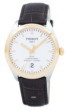 Watchoria America's trusted retailer for the finest quality designer watches, jewelry, bags, shoes & clothing online. Free US shipping + customer satisfaction. Tissot Mens Watch, Watch Sale, Stainless Steel Case, Gold Watch, 18k Gold, Watches For Men, Brown Leather, The 100, Quartz