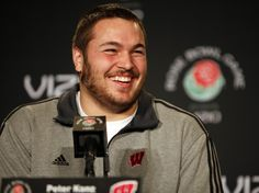 Peter Konz from Neenah, and UW-Madison, selected by the Atlanta Falcons in the NFL draft. Badger Sports, Atlanta Falcons, Wisconsin, Nfl, Culture, Smile, Sexy, Smiling Faces