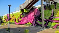 Wall paints, Muurschilderingen, Peintures Murales,Trompe-l'oeil, Graffiti, Rotterdam Simon Schrikker