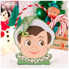Cute elf on the shelf gift bag from the Santa's Helpful Elves SVG Kit - SVGCuts #diy #christmas #papercrafts #svgfiles