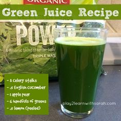 Green Juice Recipe - get your daily greens in with this quick and easy juice recipe