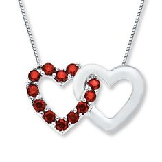 Heart Necklace Lab-Created Ruby Sterling Silver- Anniversary Gifts from Jared on shop.CatalogSpree.com, your personal digital mall.