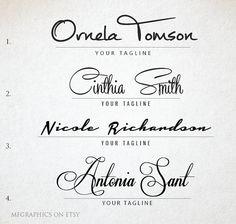 Premade Logo Custom Logo Handwritten Signature Logo by MFGraphics