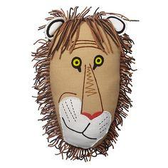 Tawny Scrawny Lion Throw Pillow    The Land of Nod