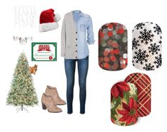 """""""Guess the Christmas Movie - Jamberry Nails Game"""" by kspantonjamon on Polyvore featuring Frame Denim, maurices, Mulberry and Billini"""