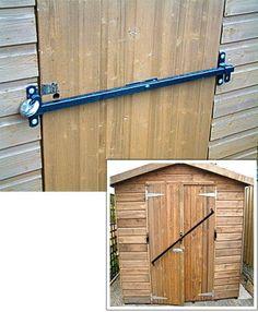 Garden Shed Security Lock fits to 750mm wide door Shedbar