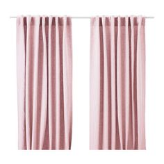 Ikea AINA Pink Linen Curtains Drapes