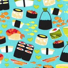 Tela FQ :: sushi :: de nosgustanlosretros por DaWanda.com