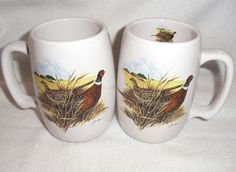 Pheasant Barrel Mugs