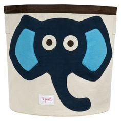 3 Sprouts Storage Bin Elephant Blue.Opens in a new window