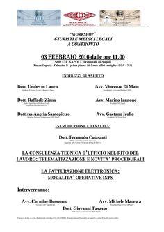 Studio Legale Buonomo (Na / Ce): Tribunale di Napoli 03/02/2016. Incontro-dibattito...