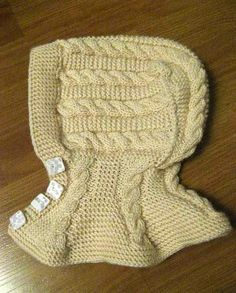 Baby knit boties free pattern - Knitting and Crochet - Knitting For Kids, Easy Knitting, Baby Knitting Patterns, Crochet For Kids, Baby Patterns, Crochet Baby, Knit Crochet, Knitting Ideas, Kids Hats