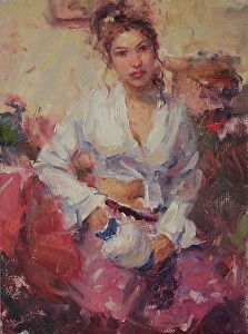 White Blouse by artist Dan Beck. An expressive #figurepainting found on the FASO Daily Art Show - http://dailyartshow.faso.com
