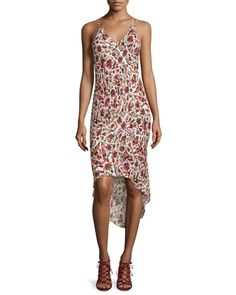 High-Low+Printed+Camisole+Dress,+Mexican+Blanket+by+Haute+Hippie+at+Neiman+Marcus.