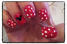 Mickey & Minnie Nails!! #mickeymouse #minniemouse #disneynails #disney #nails
