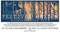 C'est quoi le Festival Walden ? Le Festival Walden c'est 4 jours de concerts, répartissur 2salles (22/23 juin à FGO – Barbara, 24 juin/1 juillet à Petit Bain),17 artistes, 14 concerts, 2 expos p…