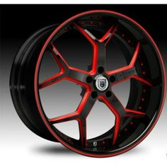 """20in rims red and black 