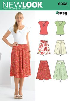 """misses' skirt in two lengths with knit top new look easy sewing pattern. <br/><br/><img src=""""skins/skin_1/images/icon-printer.gif"""" alt=""""printable pattern"""" /> <a href=""""#"""" onclick=""""toggle_visibility('foo');"""">printable pattern terms of sale</a><div id=""""foo"""" style=""""display:none;"""">digital patterns are tiled and labeled so you can print and assemble in the comfort of your home. plus, digital patterns incur no shipping costs! upon purchasing a digital pattern, you will receive an email with a link…"""