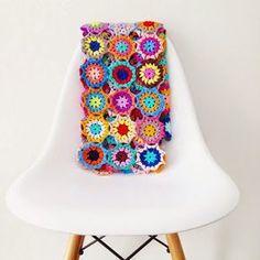 Annemarie's Haakblog: Japanese Flower Blanket