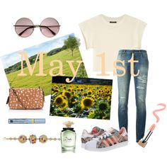 here comes the ... May ! by gravakat on Polyvore featuring Isabel Marant, Dolce&Gabbana, adidas Originals, Jérôme Dreyfuss, Bulgari, Marc Jacobs, Estée Lauder, Dolce & Gabbana Fragrance, Spring and travel