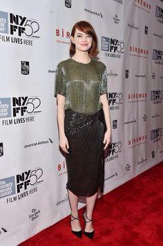 Emma Stone at the Birdman Premiere