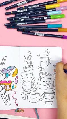 Cute Doodle Art, Doodle Art Designs, Doodle Art Drawing, Simple Doodle Art, Drawing Ideas, Bullet Journal Cover Ideas, Bullet Journal Lettering Ideas, Bullet Journal Art, Art Journal Pages