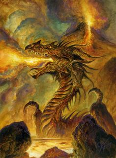 Volcanic Dragon by Bob Eggleton
