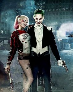 New Image of Harley Quinn and The Joker from the cover of 'Entertainment Weekl. New Image of Harley Quinn and The Joker from the cover of 'Entertainment Weekly' Héros Dc Comics, Harley Quinn Et Le Joker, Harey Quinn, Suicide Squad, Der Joker, Dc Movies, Entertainment Weekly, Gotham City, Marvel Dc