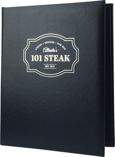 101 Steak - Create an attractive arrangement of your menu items with menu covers from Menu Designs. We have a large selection of menu covers made from the finest materials. Whether you're a café interested in menu boards or a five star dining establishment who's looking for leather menu covers, we're sure you'll find the perfect menu covers for your restaurant.