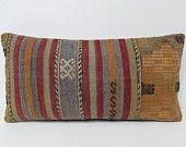 Turkish cushion sofa throw pillow lumbar kilim pillow cover decorative pillow case couch outdoor floor bohemian boho ethnic rug accent 28499