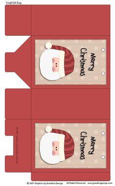 30 ~ Elfo De Navidad Fiesta de dibujos animados cajas de alimentos ~ bolsa de harina de Navidad para niños Caja de placa