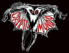 shirt features Mothman interpreted by Eerie Eric Fargiorgio.These will be two color designs screen printed on black shirts.