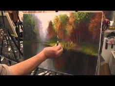 Художник Игорь Сахаров, как научиться рисовать речку в лесу, уроки рисования - YouTube