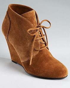Via Spiga Booties - Sophie Laceup Wedge - Boots - Shoes - Shoes - Bloomingdale's