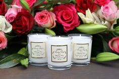 Bursting with floral surprise, the Blushing Rose candle will pretty up any surrounding.