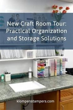 Check out my new craft room tour. It's full of practical organization and storage solutions to make paper crafting time more productive. See how I store cardstock, craft punches, stamp sets and more! Learn more at www.klompenstampers.com Punch Storage, Stamp Storage, New Crafts, Paper Crafts, Craft Punches, Room Tour, How To Make Paper, Craft Storage Solutions, Craftroom Ideas