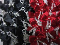 オリジナルリボンパールフリンジ新 魅惑の赤と黒 ハンドメイド インテリア 雑貨 Handmade ribbon ¥980yen 〆05月02日