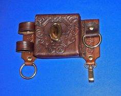 LEATHER STEAMPUNK UTILITY BELT POUCH