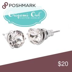 "Origami Owl sparkle Stud earrings Origami owl sparkle Stud earrings nib. Hypoallergenic surgical steel posts. Nickel and lead free. .25"" Diam  will consider offers using the offer button only. I do not negotiate on listings. No trades. Origami Owl Jewelry Earrings"