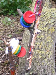 Using natural and recycled materials we created musical instruments during our Wildart event photo by Trudi Righton