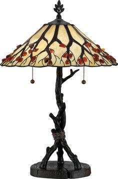 Amazon.com $255 w/free shipping. Quoizel AG711TVA Whispering Wood 25-Inch Tiffany Table Lamp, Valiant Bronze